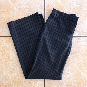 Express Editor Flare Pant Black Striped 8
